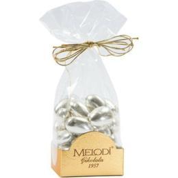 Melodi Çikolata Gümüş Kaplama Badem Şekeri 1000 gr