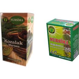 Nursima 420 gr Çam Kozalağı Macun ve Biberiyeli Çay