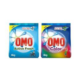 Omo Active Fresh 4 kg + Omo Color 4 kg Çamaşır Deterjanı