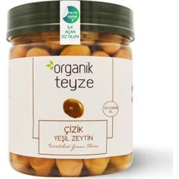 Organik Teyze 500 gr Çizik Yeşil Zeytin