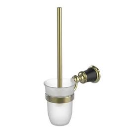 Orka Premium Duvara Monte Siyah Altın Tuvalet Fırçası