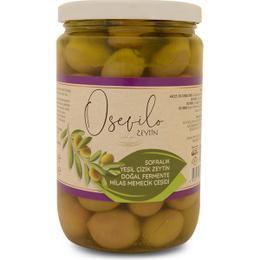 Osevilo 680 gr Sofralık Yeşil Çizik Zeytin Doğal Fermente Milas Memecik Çeşidi