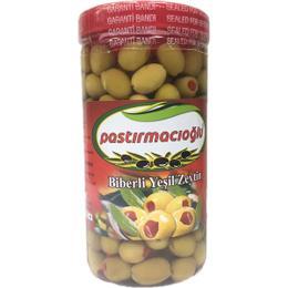 Pastırmacıoğlu 800 gr Biberli Yeşil Zeytin