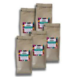 Profusion Coffee 5x1 kg Taze Orta Kavrulmuş (Brazil) Brezilya Rio Minas Çekirdek Kahve