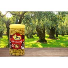 Tatlı 900 gr Biberli Yeşil Zeytin
