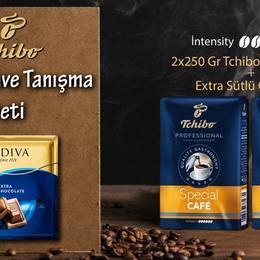 Tchibo Filtre Kahve Seti 2x250 gr + Godiva Çikolata