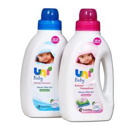 Uni Baby 1800 ml Sensitive Çamaşır Deterjanı+1200 ml Konsantre Bebek Çamaşır Yumuşatıcısı