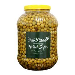 Veli Fidan 5 kg Halhali Yeşil Kırma Zeytin