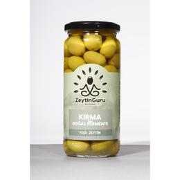 Zeytin Guru 500 gr Kırma Tipi Doğal Fermente Yeşil Zeytin