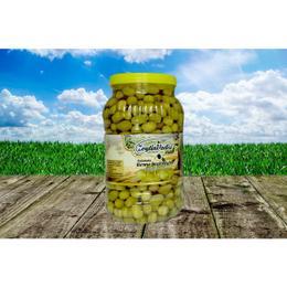 Zeytin Vadisi 2 kg Domat Cinsi Kırma Doğal Yeşil Zeytin