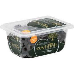 Zeytineli Yağlı Salamura Siyah Zeytin - 500 gr