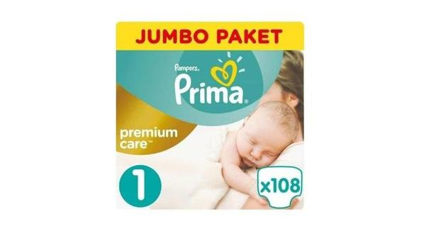 Prima Premium Care No:1 Yenidoğan 108 Adet Bebek Bezi