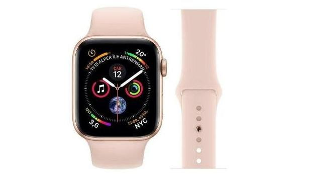 Apple Watch Series 4 44 mm Altın Rengi Alüminyum Kasa ve Spor Kordon Akıllı Saat