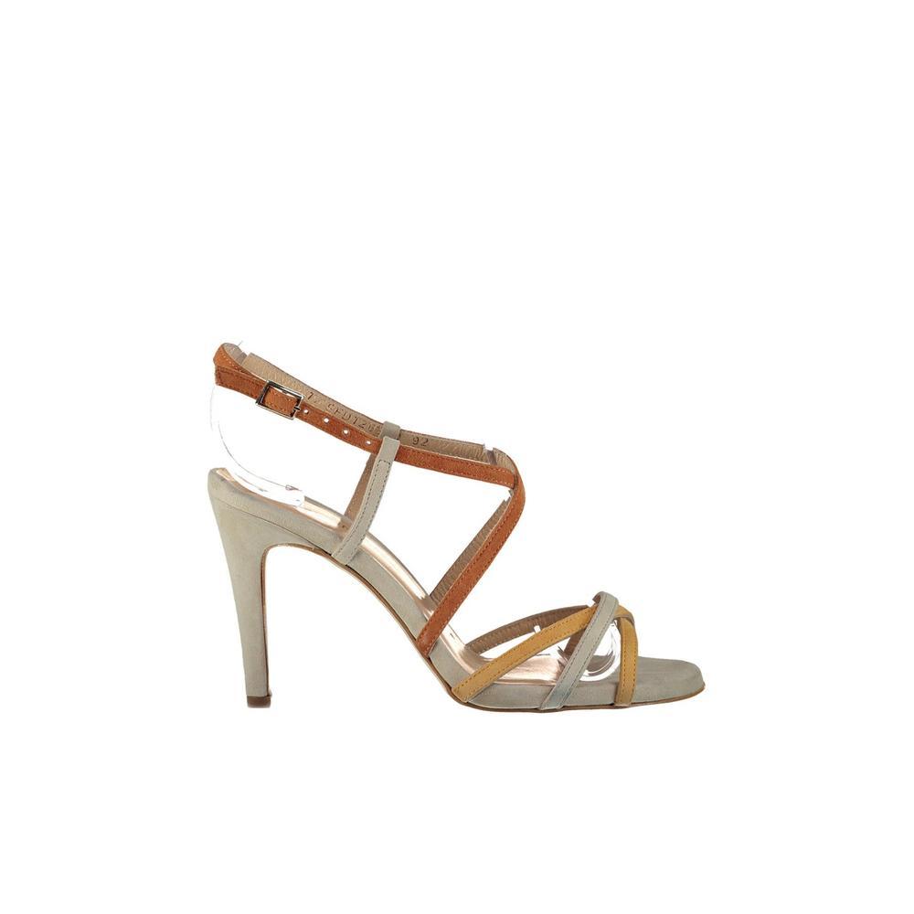 Derimod 17SFD126510 Bej-Taba Kadın Topuklu Ayakkabı