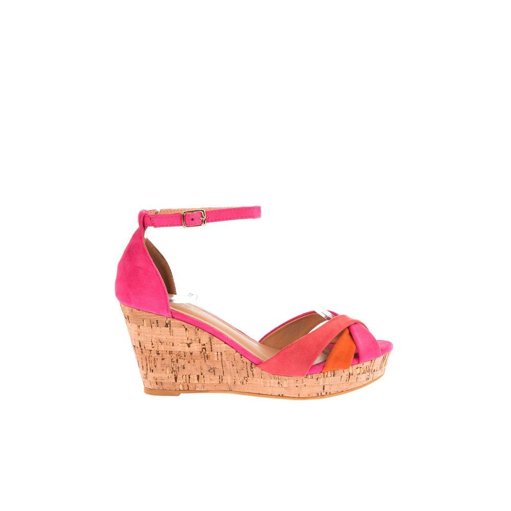 Derimod 17SFE232310 Fuşya Kadın Dolgu Topuklu Ayakkabı