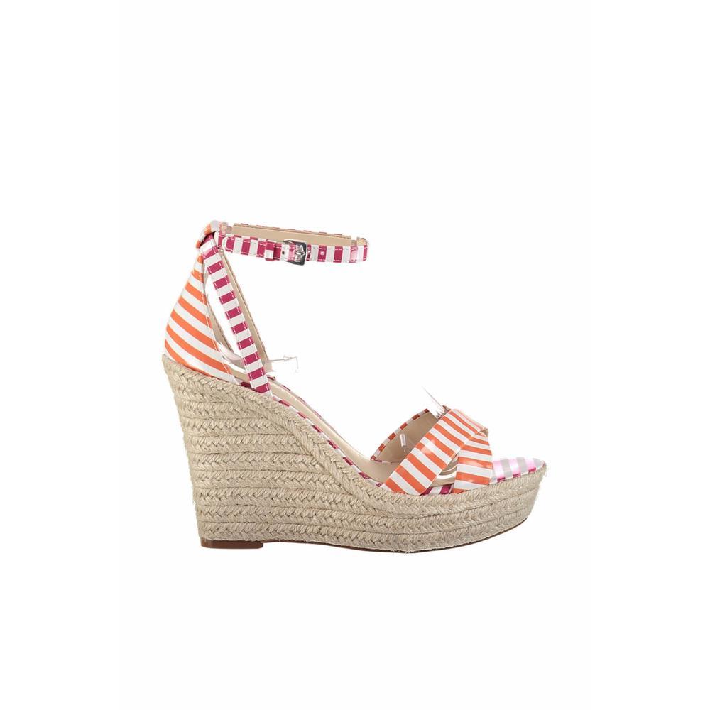 Nine West 25018404-4SS Beyaz-Turuncu-Fuşya Kadın Dolgu Topuklu Ayakkabı