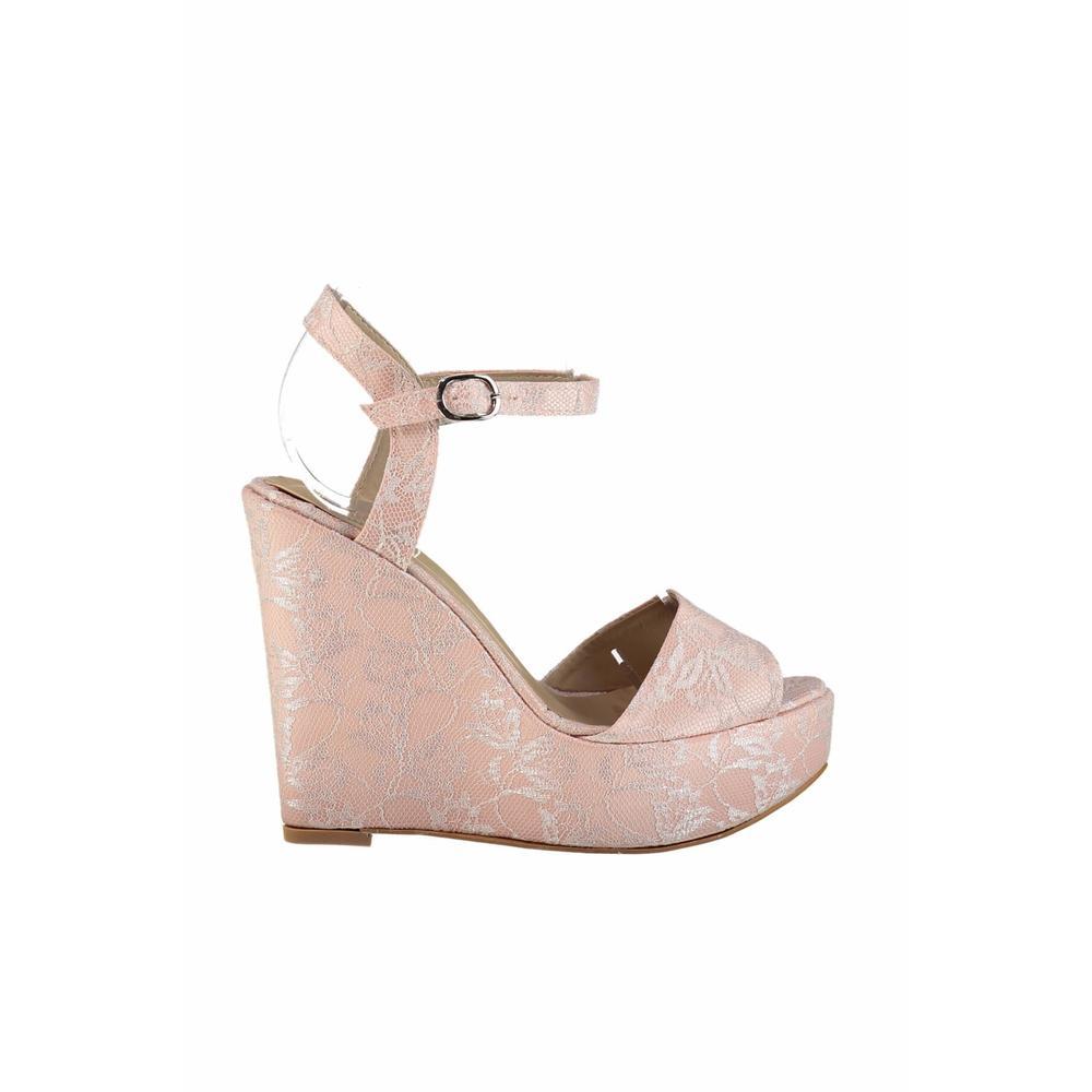 Pembe Potin A2424-18 Kadın Dolgu Topuklu Ayakkabı