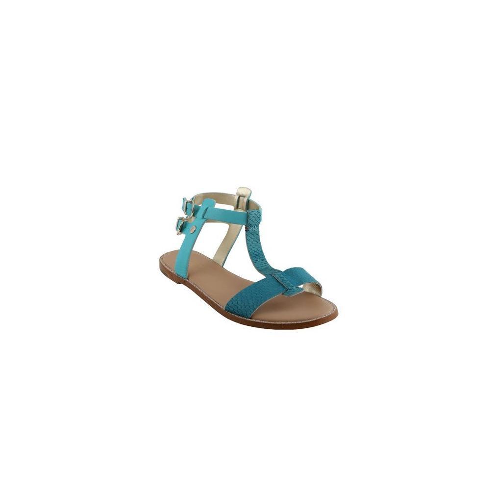 Tommy Hilfiger FW56816797463 T4-7 Mavi Dolgu Topuk Ayakkabı