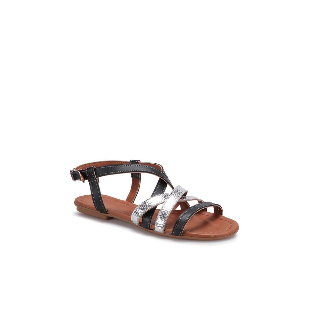 Carmens Padova Art03-Siyah Kadın Sandalet