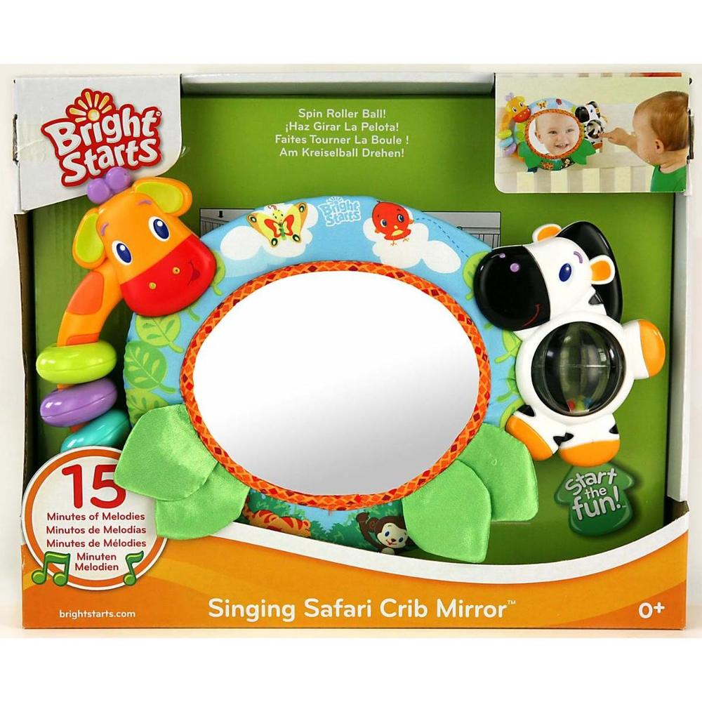 Bright Starts Singing Safari Crib Mirror Ayna