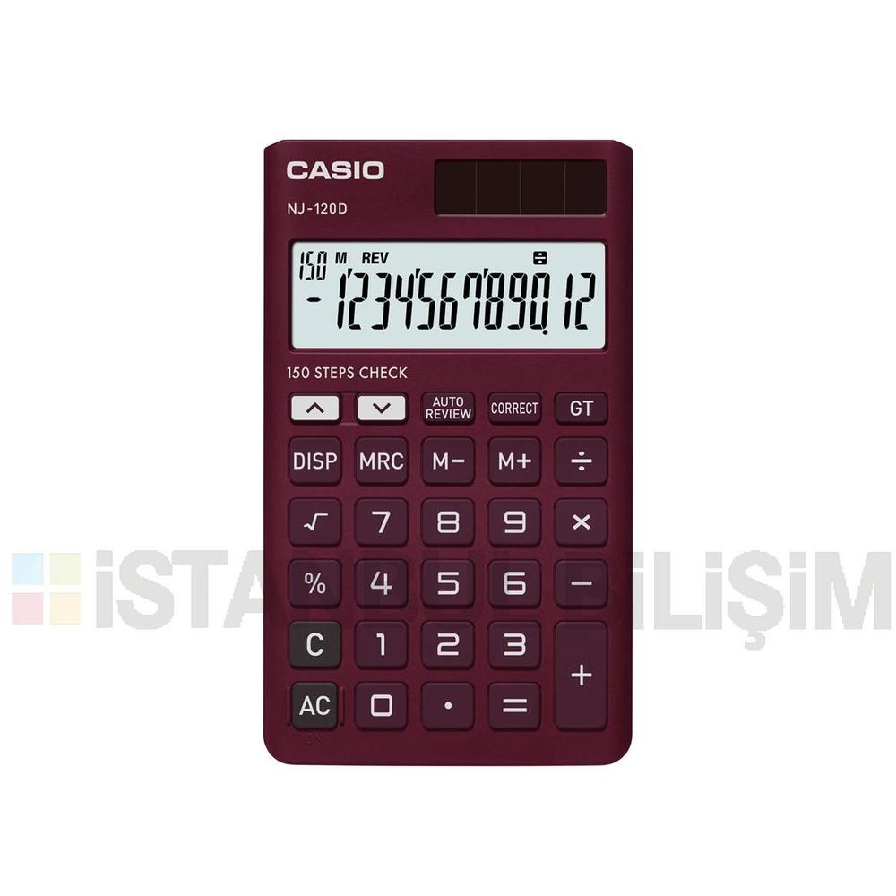 Casio NJ-120D-RD Hesap Makinesi