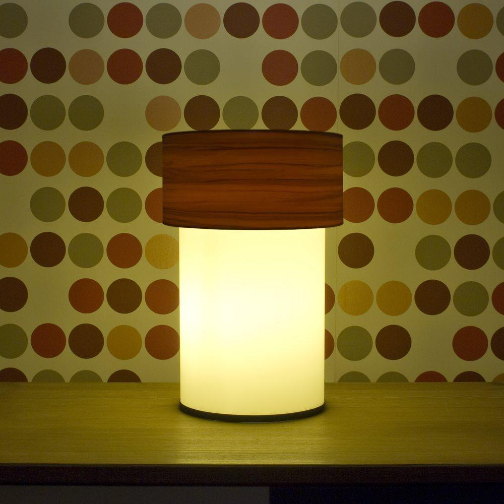 Crea Lighting Doubleshade Wood Elma Abajur