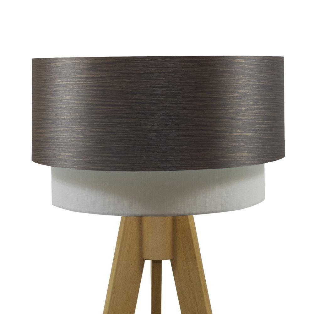 Crea Lighting Doubleshade Wood Tripod Naturel Alpi Abajur