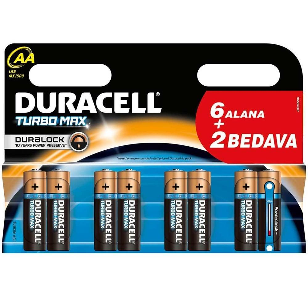Duracell AA 8 Adet Pil