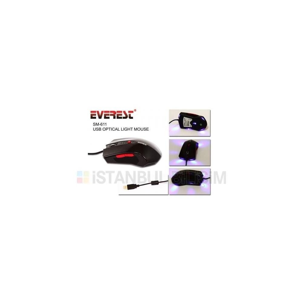 Everest SM-611 Siyah Mouse