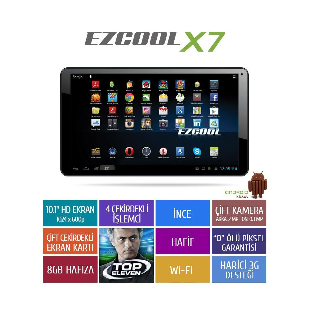 Ezcool X7 Siyah Tablet Pc