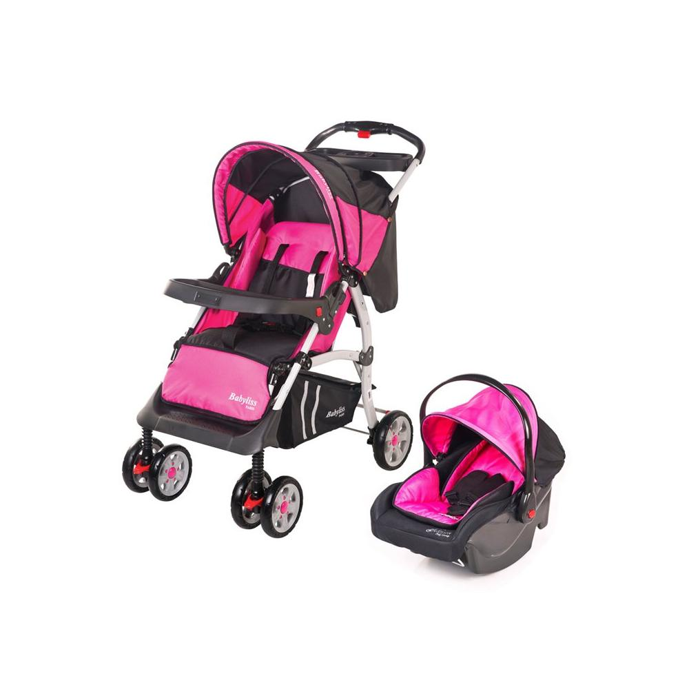 Johnson DB 217 Babyliss Paris Pembe Travel Sistem Bebek Arabası