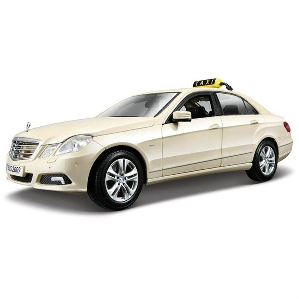 Maisto Mercedes Benz E-Class Taxi 1:18 Krem Model Araç