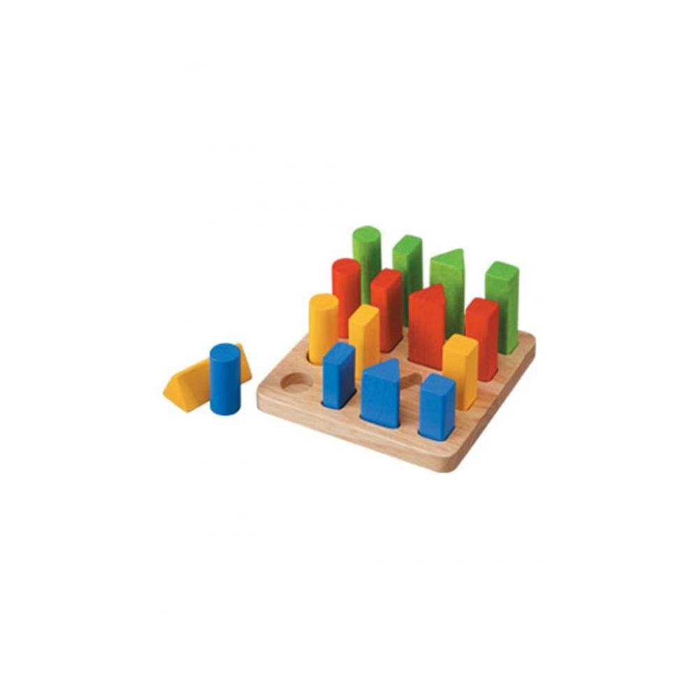 Plan Toys 51250-Geometric Peg Board