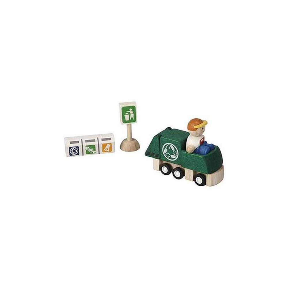 Plan Toys 6243-Recycling Truck Set