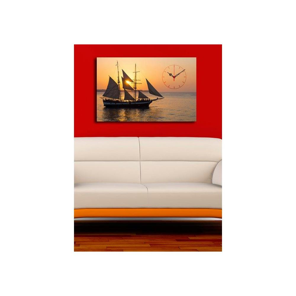 Quick 4570UCS-13 4570 45x70 cm Canvas Tablo Saat
