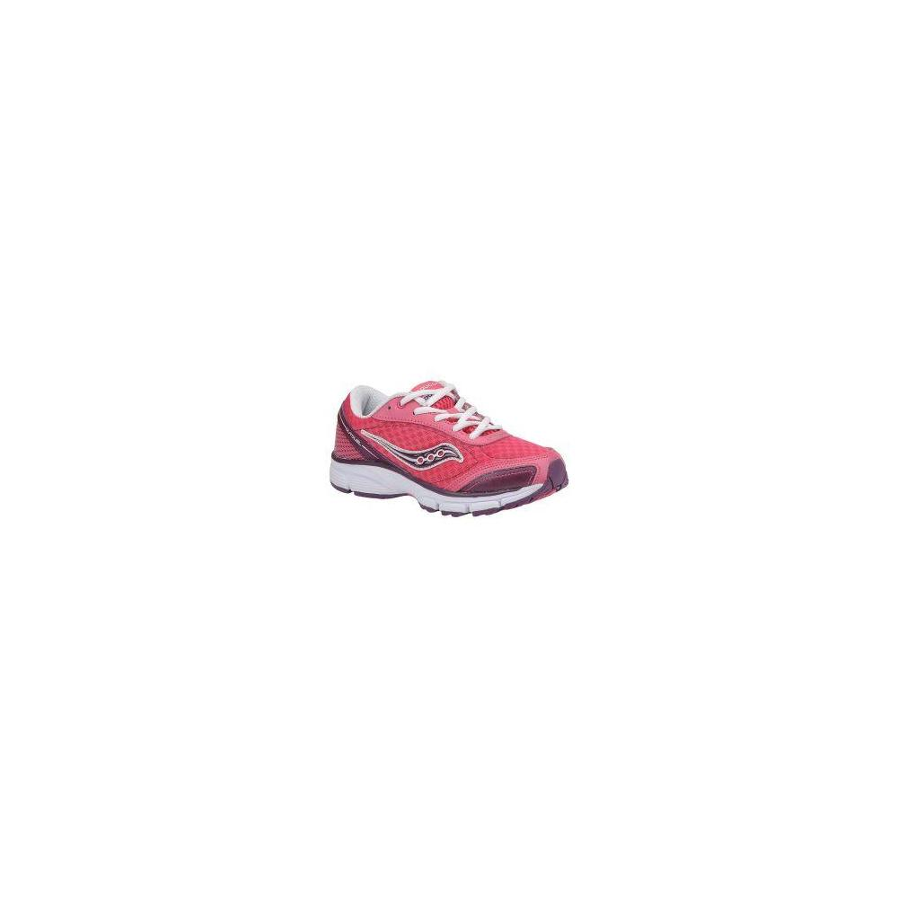 Saucony Girls' Outduel Pink-Purple-White