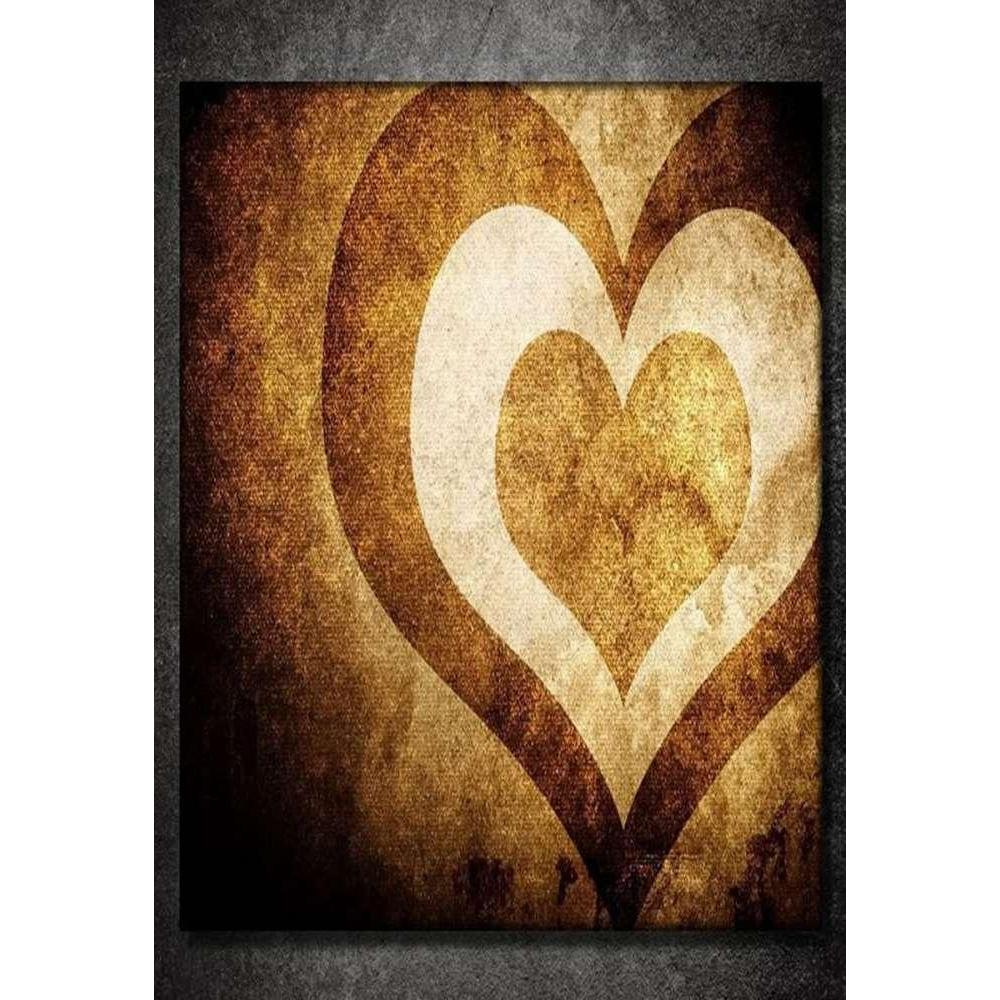 Tabloshop Brown Heart Kanvas Tablo