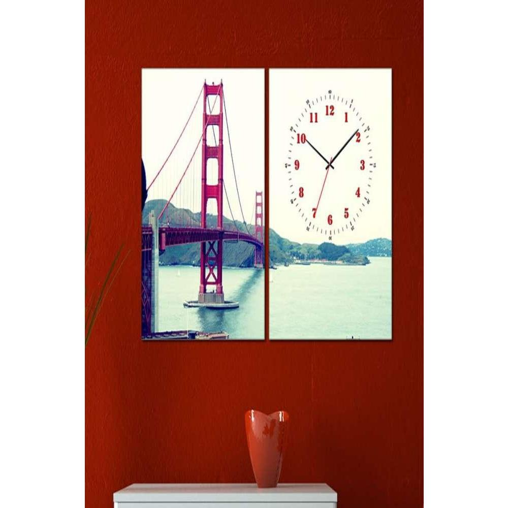 Tabloshop Golden Gate Kanvas Tablo Saat