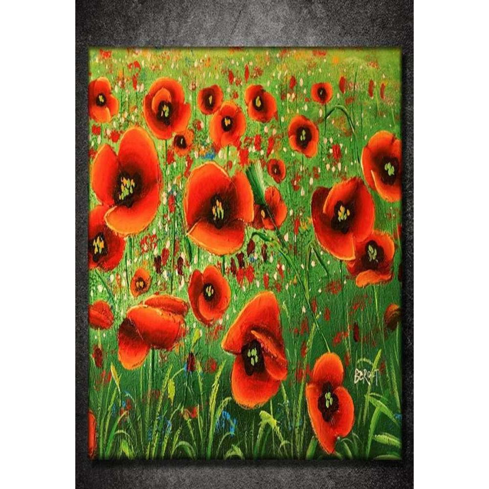 Tabloshop Painting Poppies II Kanvas Tablo