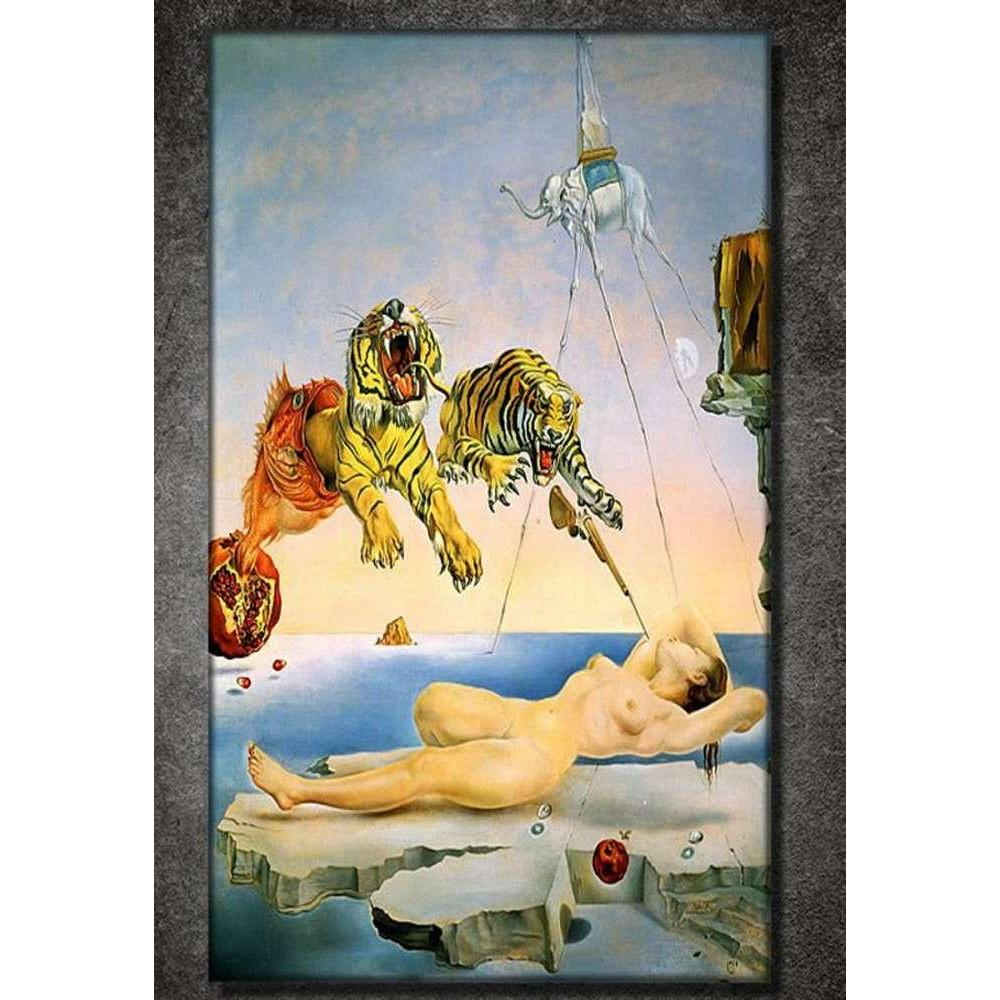 Tabloshop Salvador Dali - The Flight Of A Bee Around A Pom Kanvas Tablo