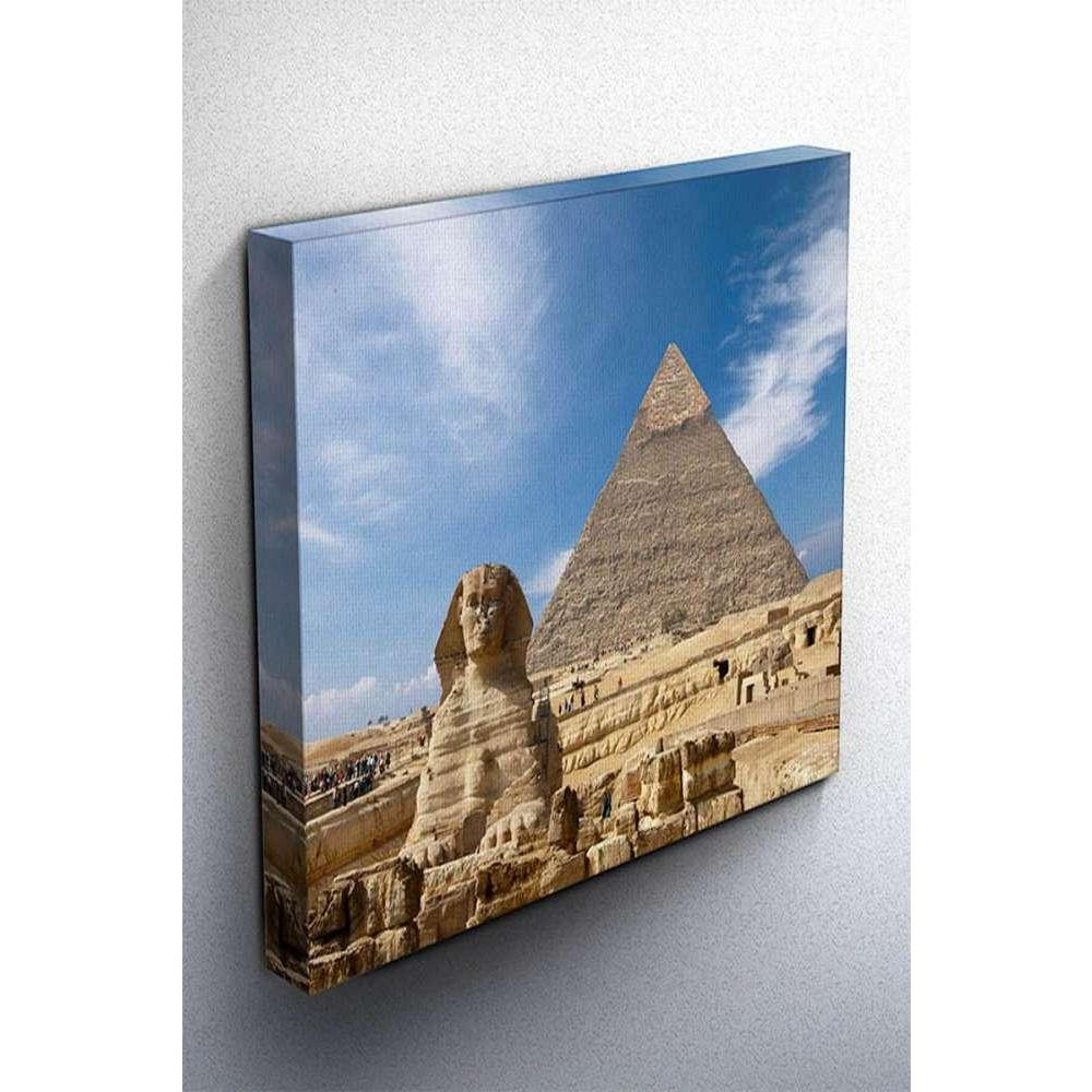 Tabloshop Sphinx And The Great Pyramid In Egypt Kanvas Tablo