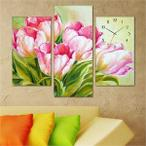Tabloshop Tulips Kanvas Tablo Saat