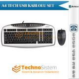 A4-Tech KB 21620D Klavye-Mouse Set