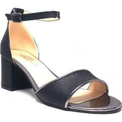 Shop And Shoes 207-802 Siyah Kadın Topuklu Ayakkabı
