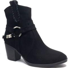 Shop and Shoes 171-604 Siyah Süet Bayan Bot