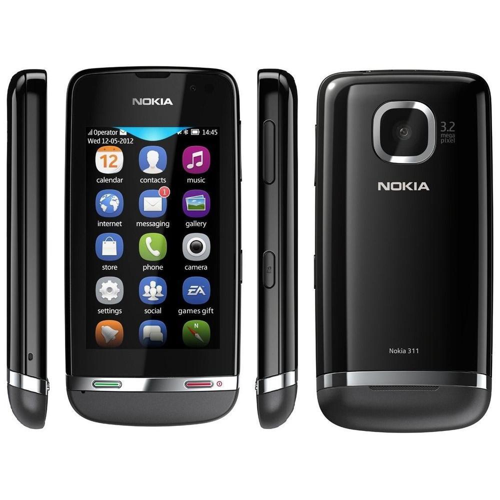 Nokia Asha 311 Gri Cep Telefonu