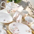Kütahya Porselen Kare Bone 44 Parça 55105 Desen Kahvaltı Takımı